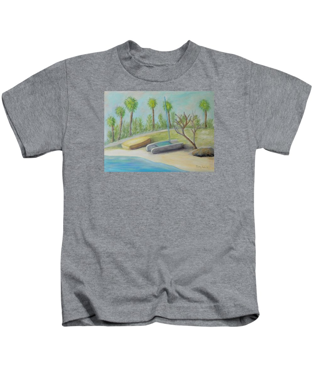 Island Kids T-Shirt featuring the painting Anastasia Island by Patty Weeks