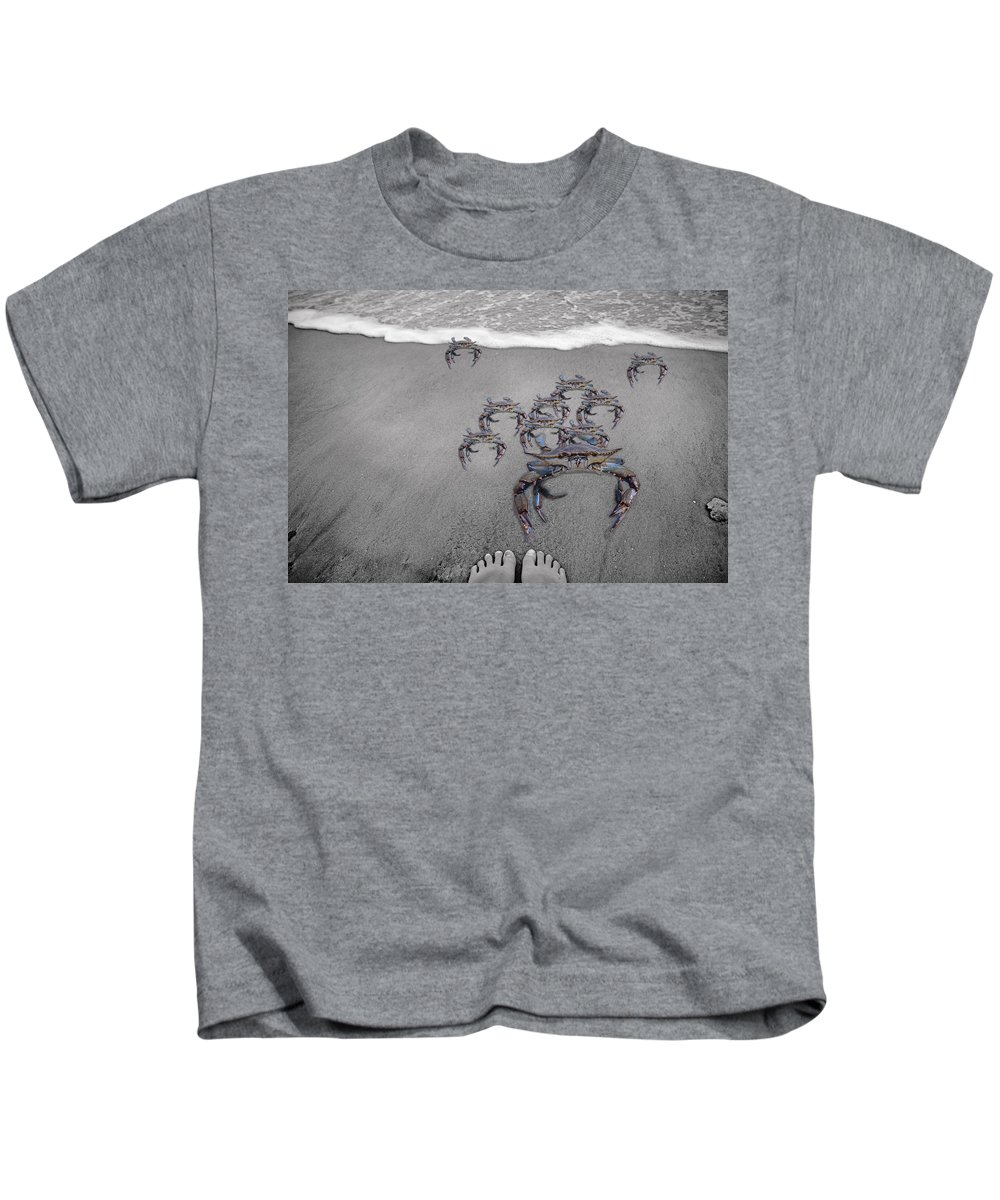 Blue Kids T-Shirt featuring the digital art And This Little Piggy by Betsy Knapp