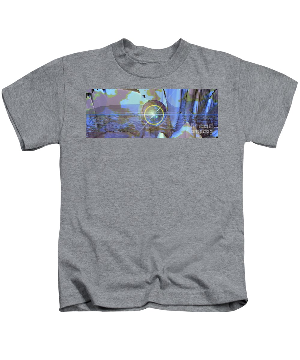 Luke Kids T-Shirt featuring the painting Angel Of The Water by Luke Galutia