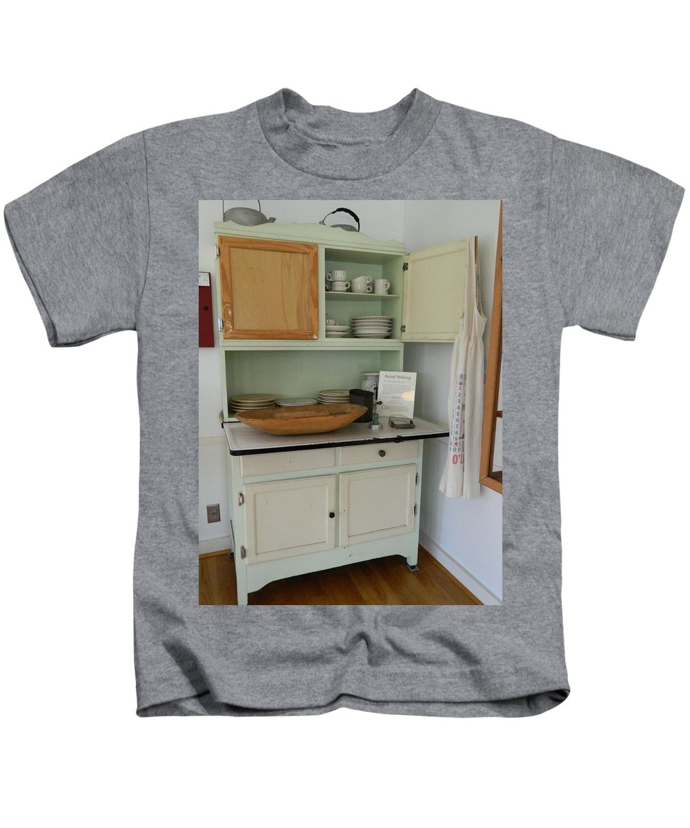 Kitchen Cabinet Kids T-Shirt featuring the photograph Antique Kitchen Cabinet by George Pedro