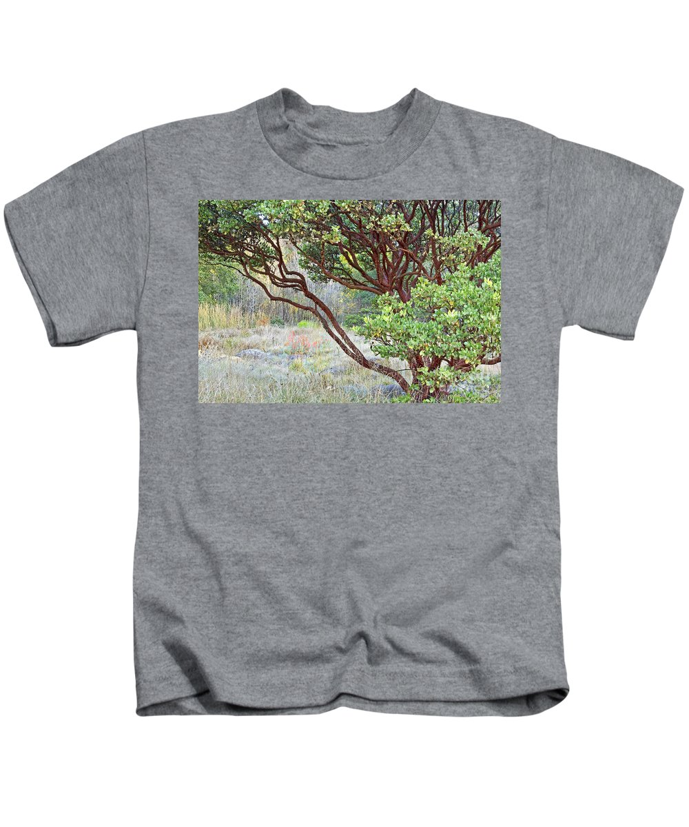 Kate Brown Kids T-Shirt featuring the photograph Arctostaphylos Hybrid by Kate Brown