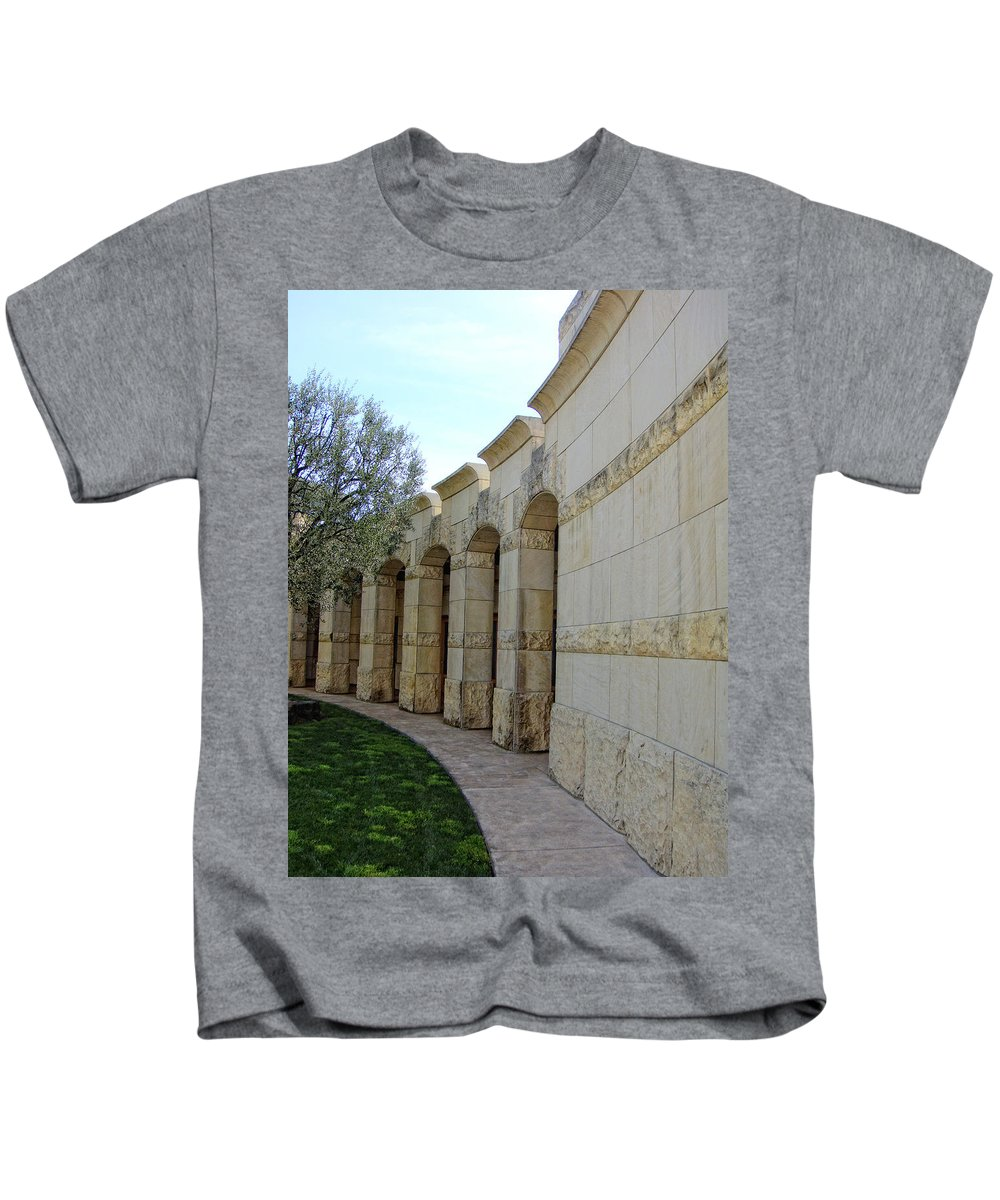 Architecture Kids T-Shirt featuring the photograph Around The Bend by Donna Blackhall