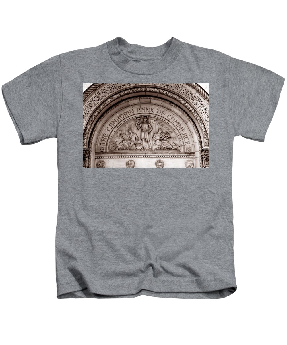 Toronto Kids T-Shirt featuring the photograph Art Deco 19b by Andrew Fare