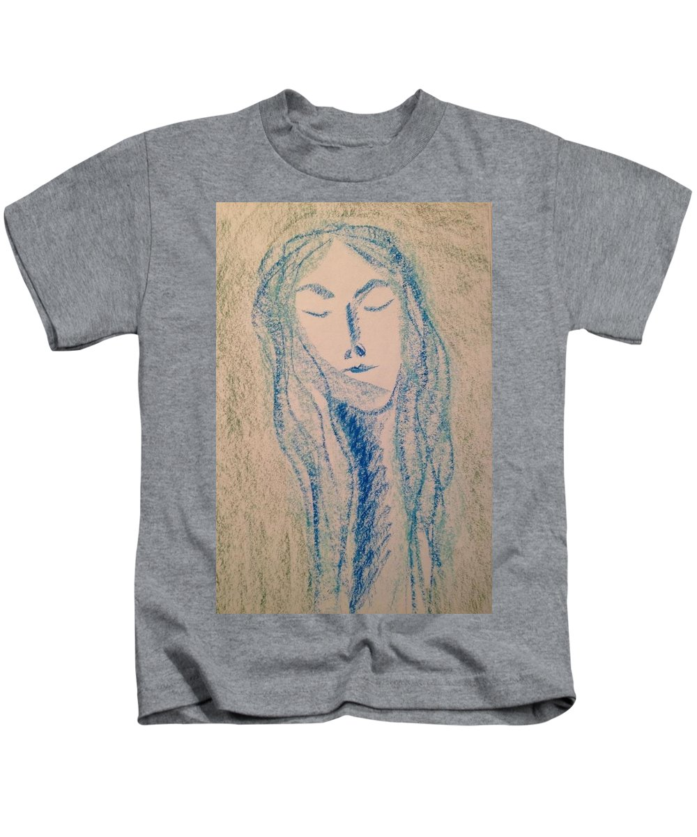 Woman Kids T-Shirt featuring the photograph Art Therapy 152 by Michele Monk