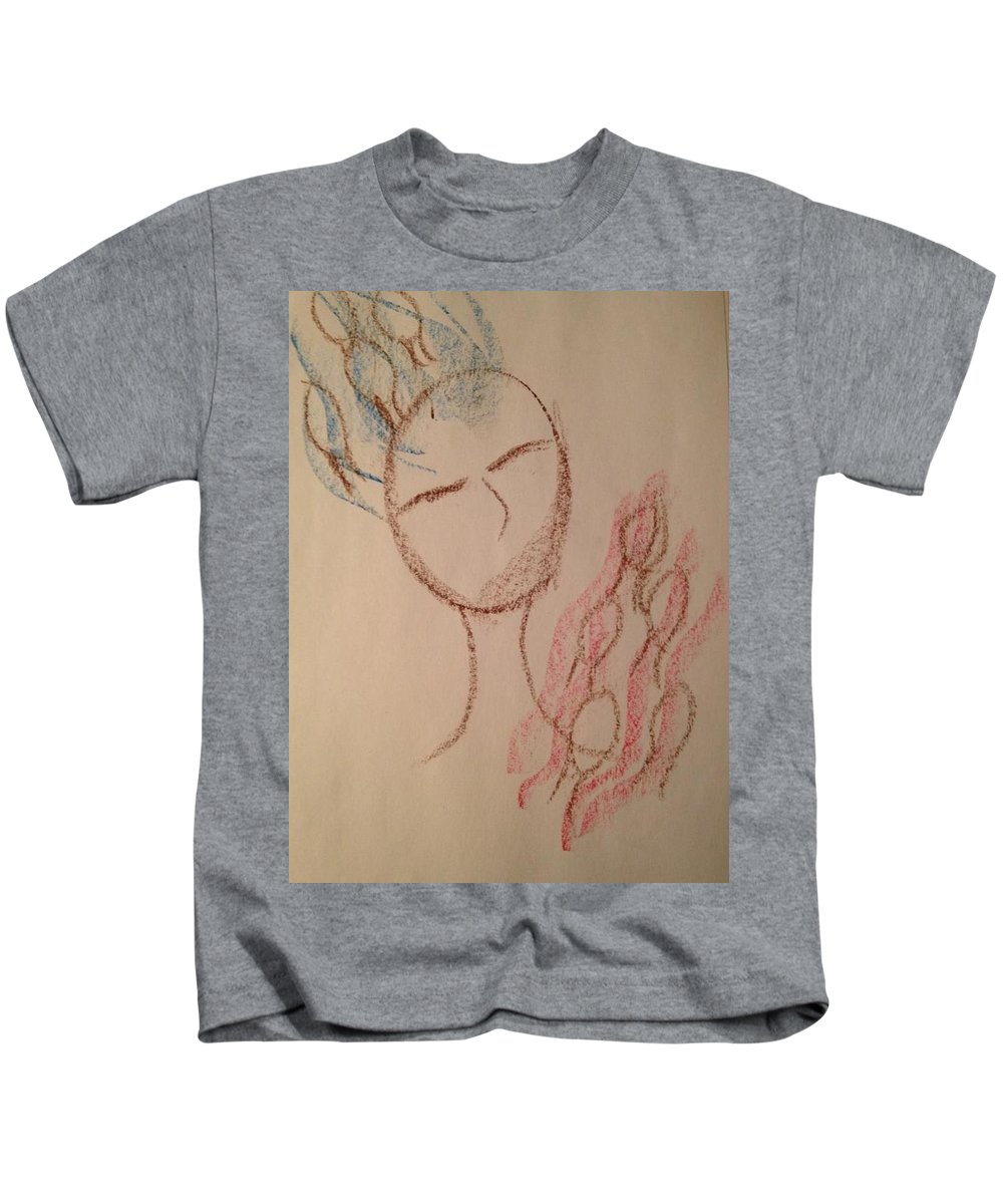 Woman Kids T-Shirt featuring the photograph Art Therapy 163 by Michele Monk