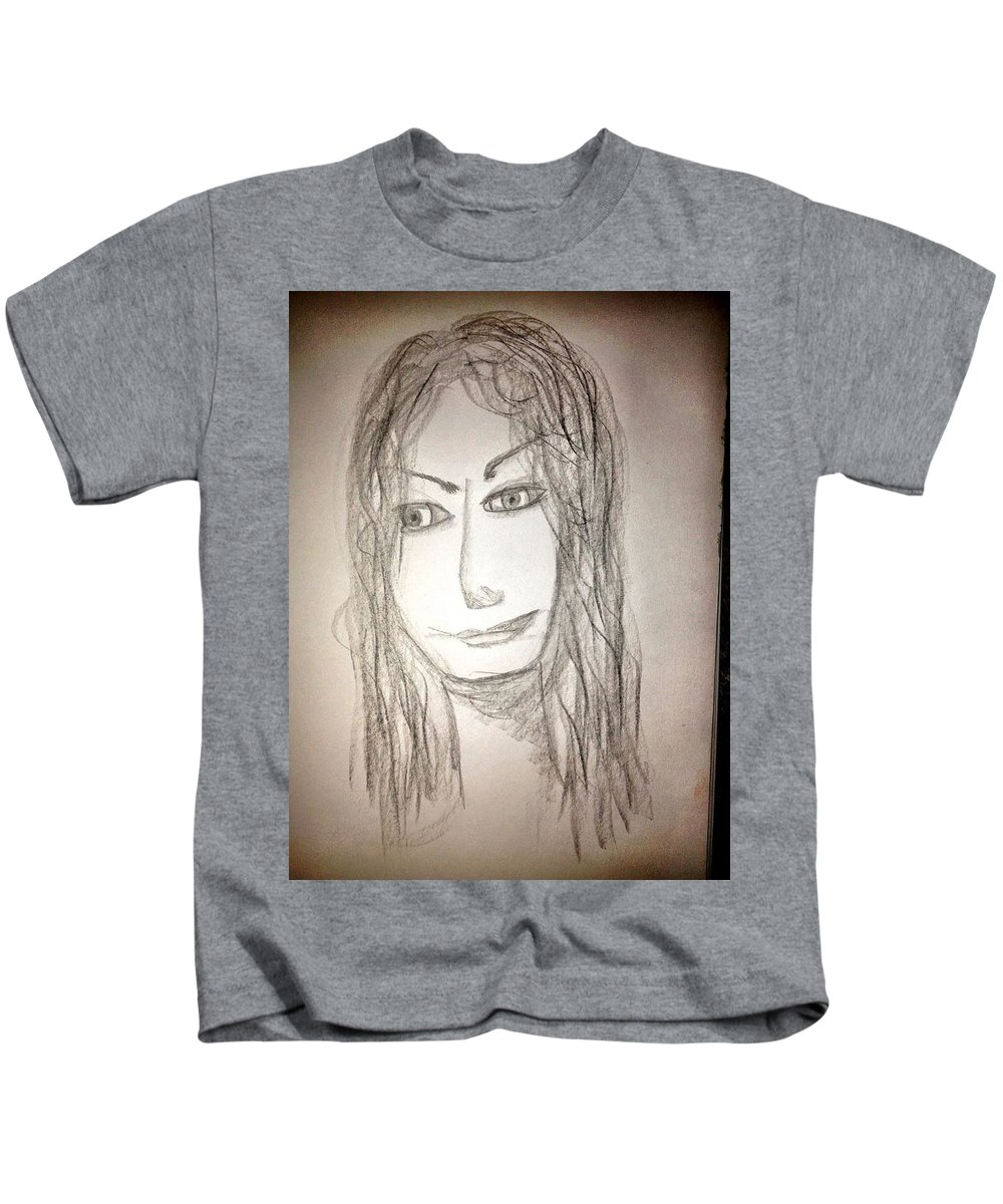 Self Portrait Kids T-Shirt featuring the photograph Art Therapy 183 by Michele Monk