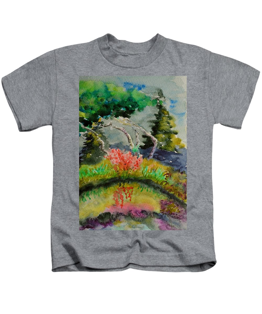 Aspens Kids T-Shirt featuring the painting Aspens On Acid by Beverley Harper Tinsley