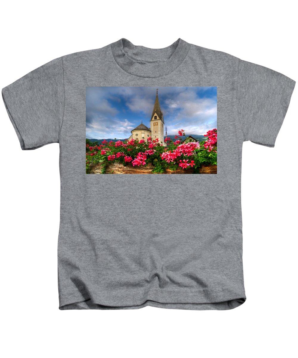 Austria Kids T-Shirt featuring the photograph Austrian Church by Debra and Dave Vanderlaan