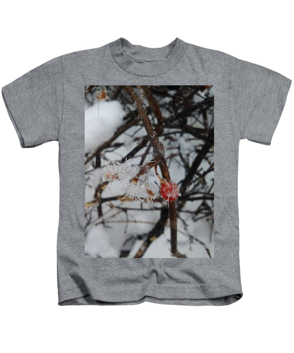 Snow Kids T-Shirt featuring the photograph Baby Its Cold Outside by Amanda Rardin