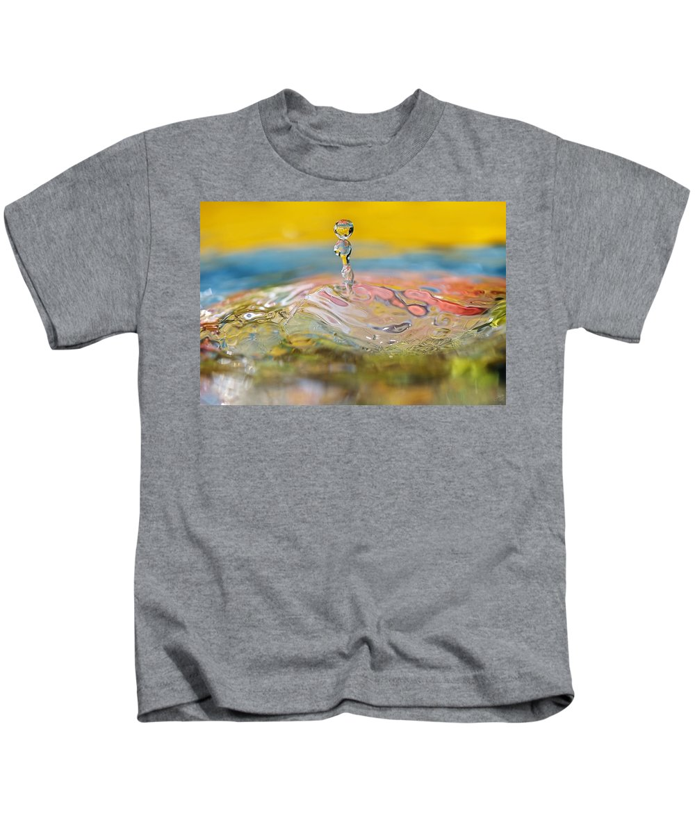 Abstract Kids T-Shirt featuring the photograph Balancing Act by Lisa Knechtel