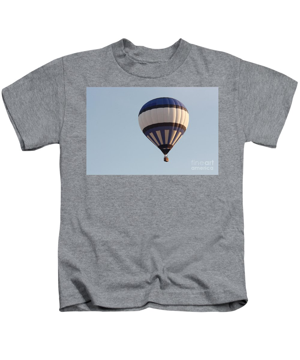 Hot Air Balloon Kids T-Shirt featuring the photograph Balloon-bwb-7399 by Gary Gingrich Galleries