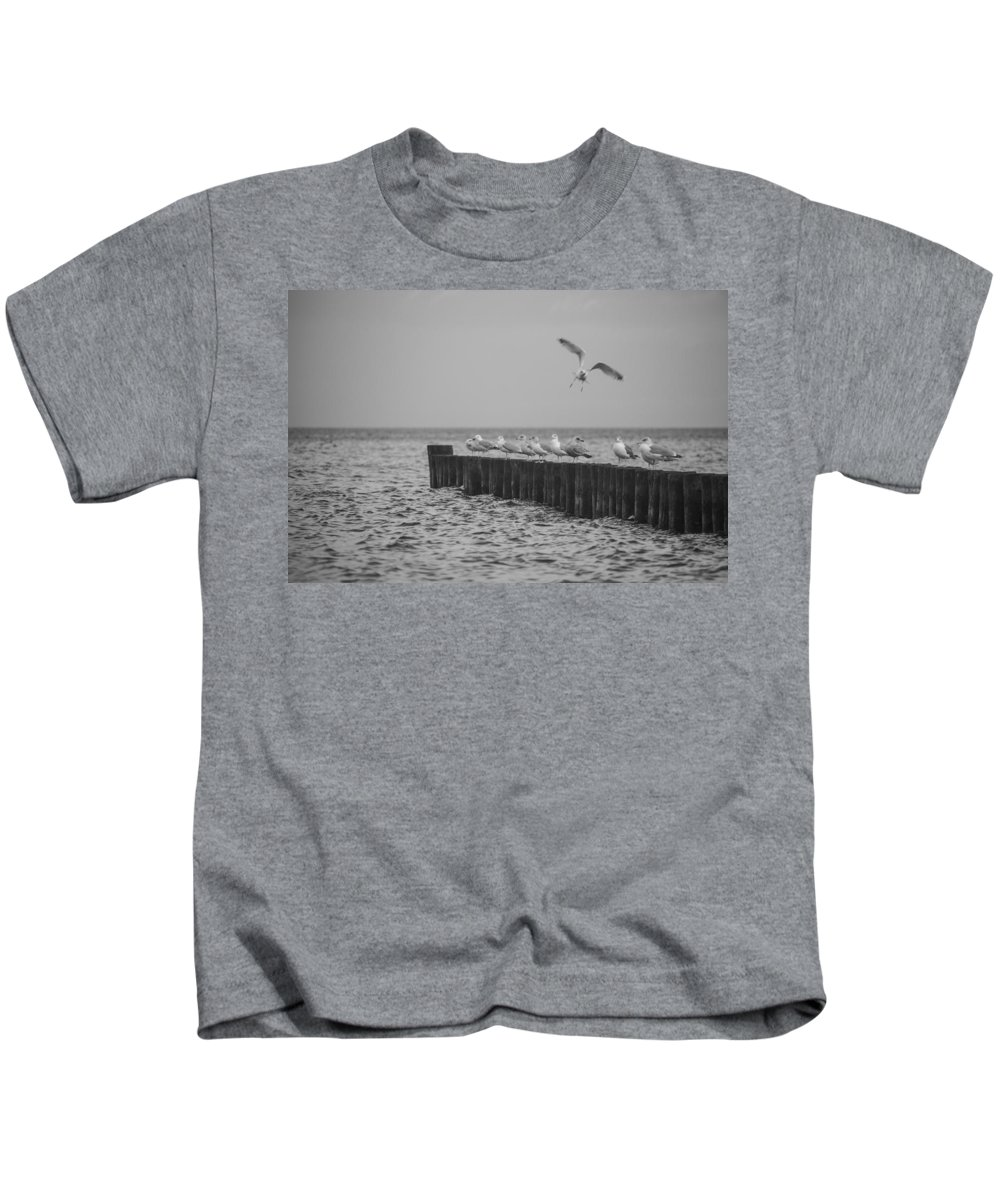 Island Of Ruegen Kids T-Shirt featuring the photograph Baltic Sea-gulls by Ralf Kaiser