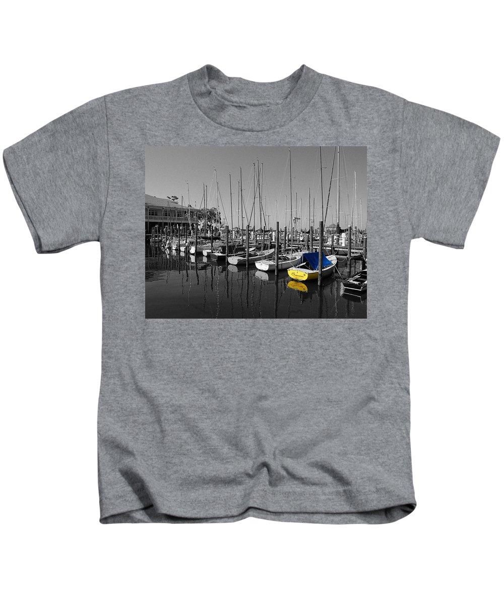 Shrimp Boat Kids T-Shirt featuring the photograph Banana Boat by Michael Thomas