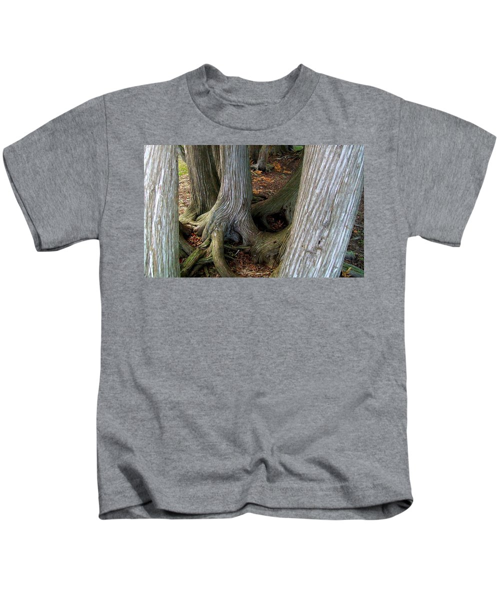 Trees Kids T-Shirt featuring the photograph Barky Barky Trees by Michelle Calkins