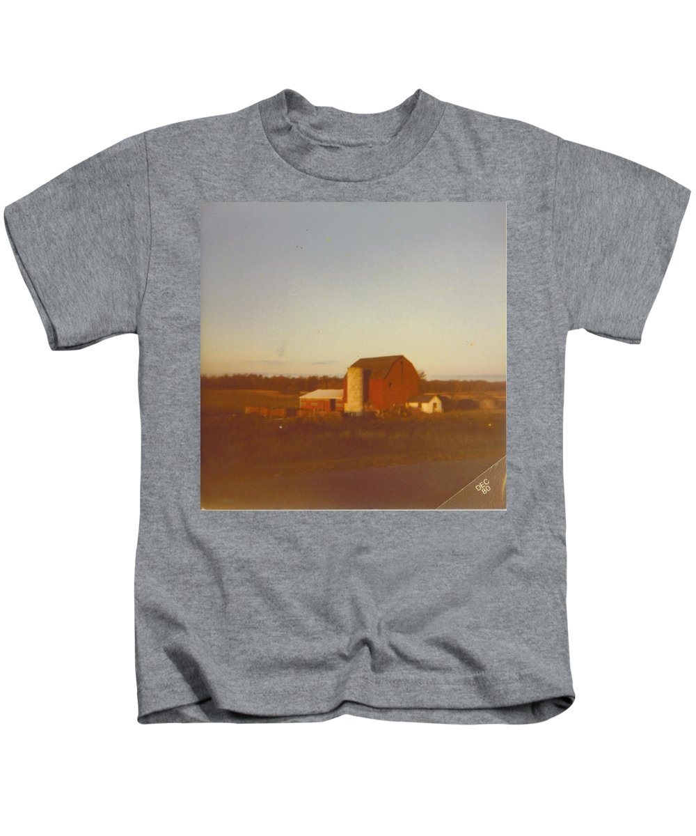 Michigan Barns And Landscape Kids T-Shirt featuring the photograph Barn And Land Scape by Robert Floyd
