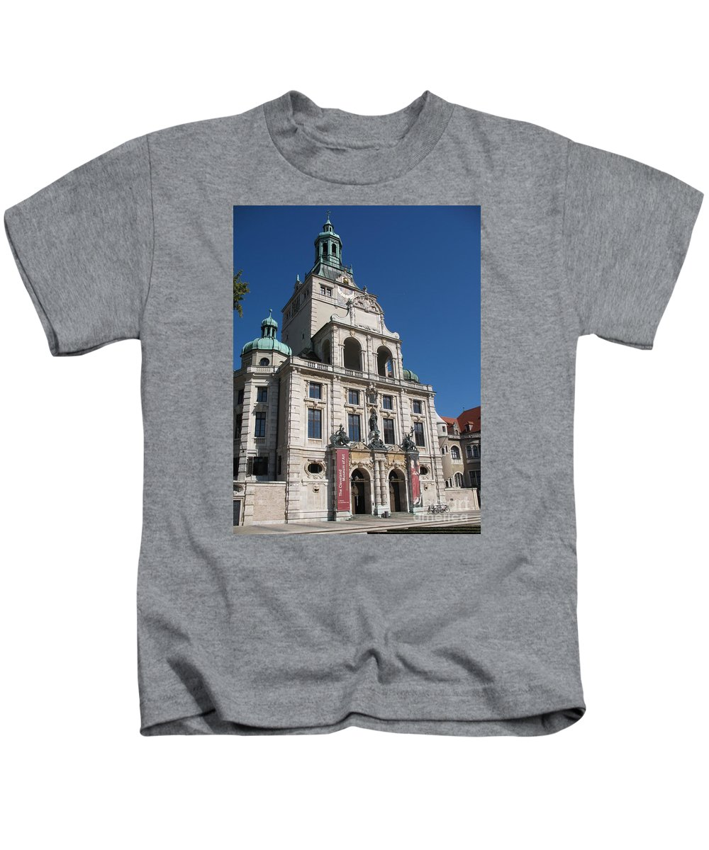 Museum Kids T-Shirt featuring the photograph Bavarian National Museum by Christiane Schulze Art And Photography
