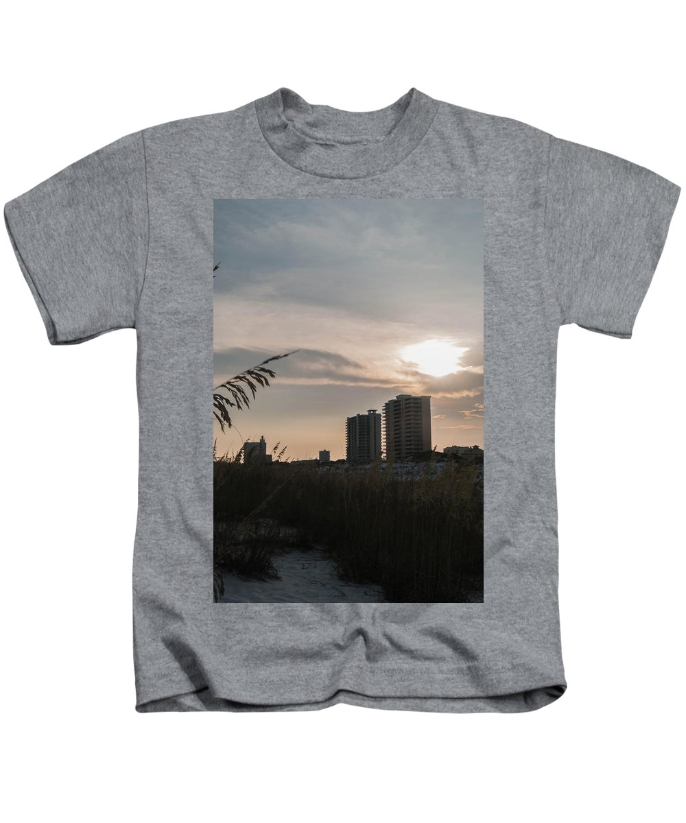 Dusk Kids T-Shirt featuring the photograph Beach At Dusk by Jon Cody