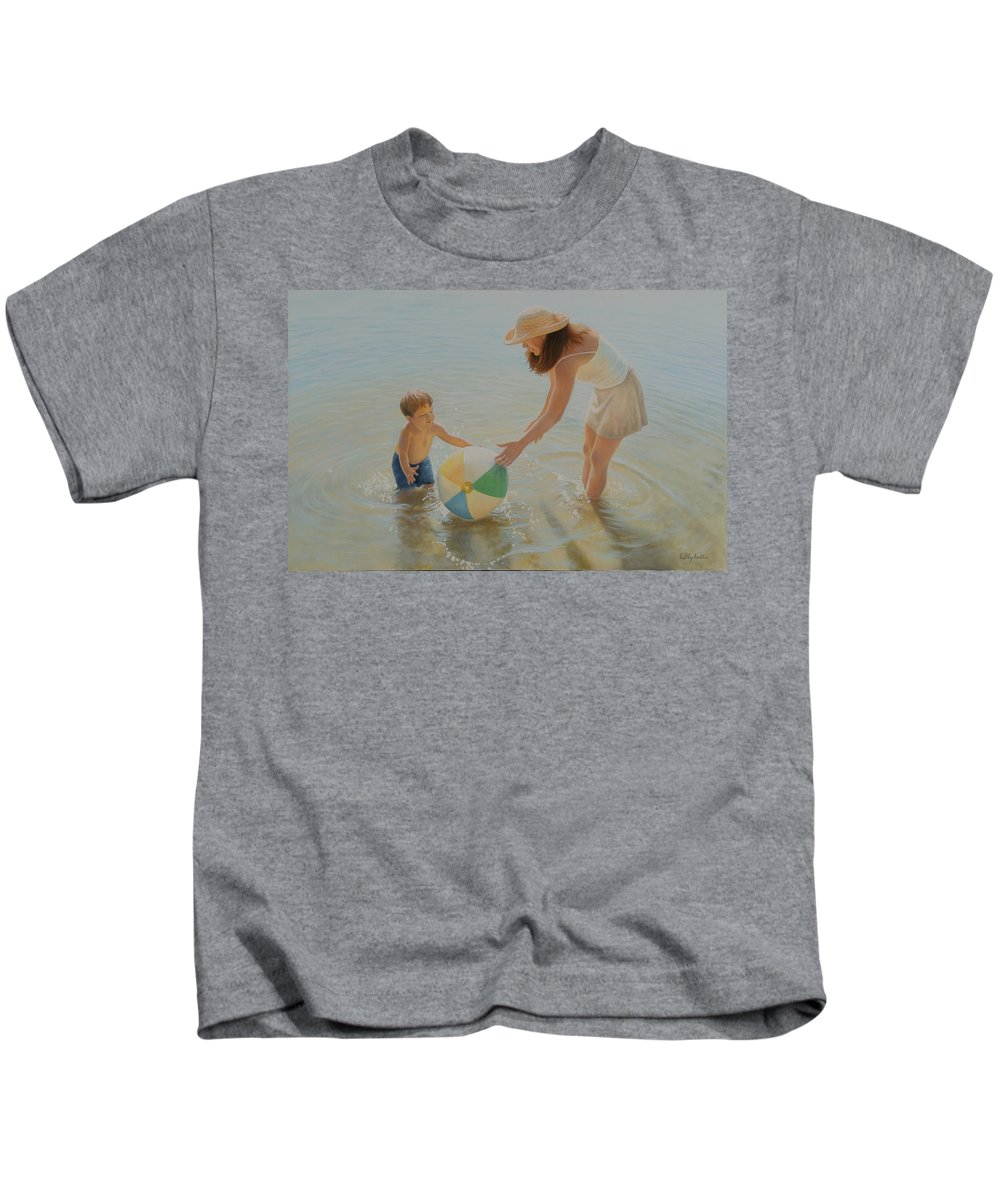 Realistic Kids T-Shirt featuring the painting Beach Ball by Holly Kallie