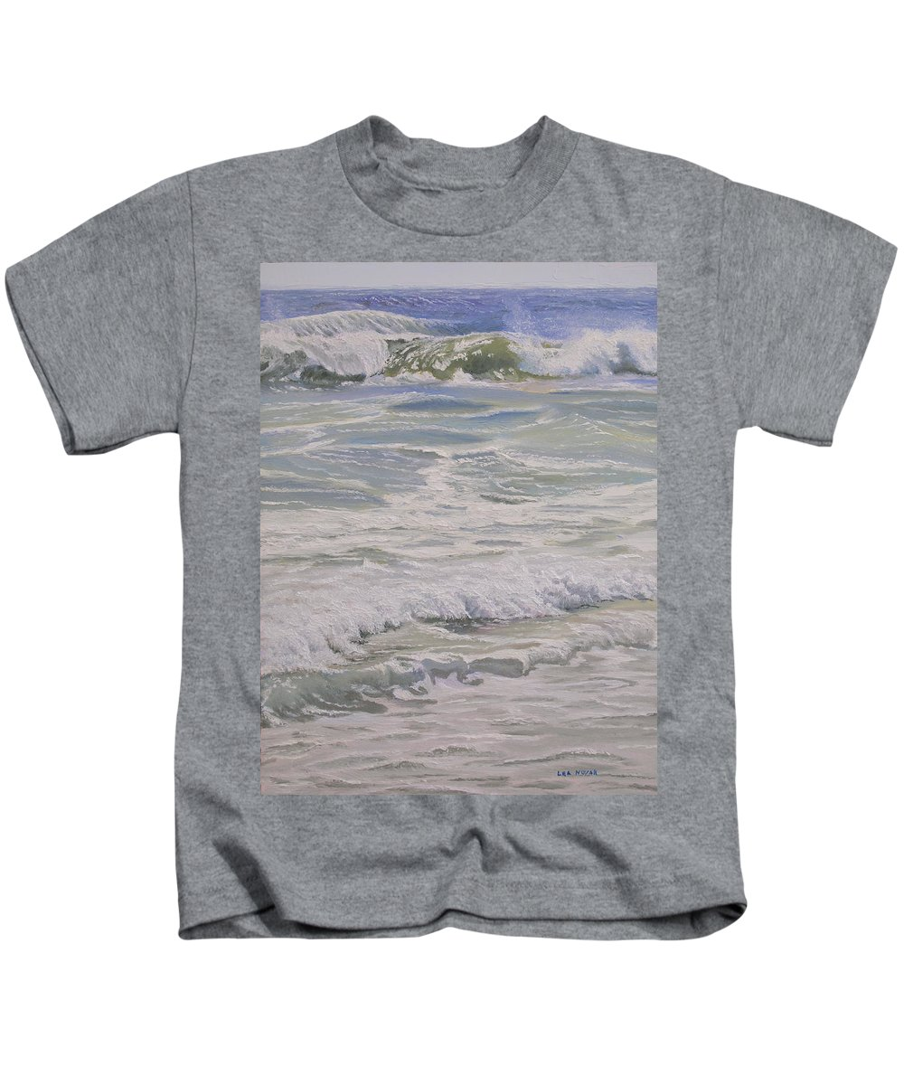 Beach Kids T-Shirt featuring the painting Beach Lace by Lea Novak