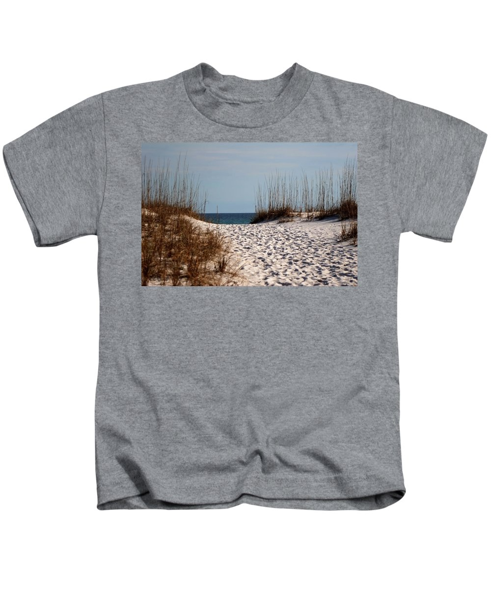 Beach Kids T-Shirt featuring the photograph Beach Path by Mechala Matthews