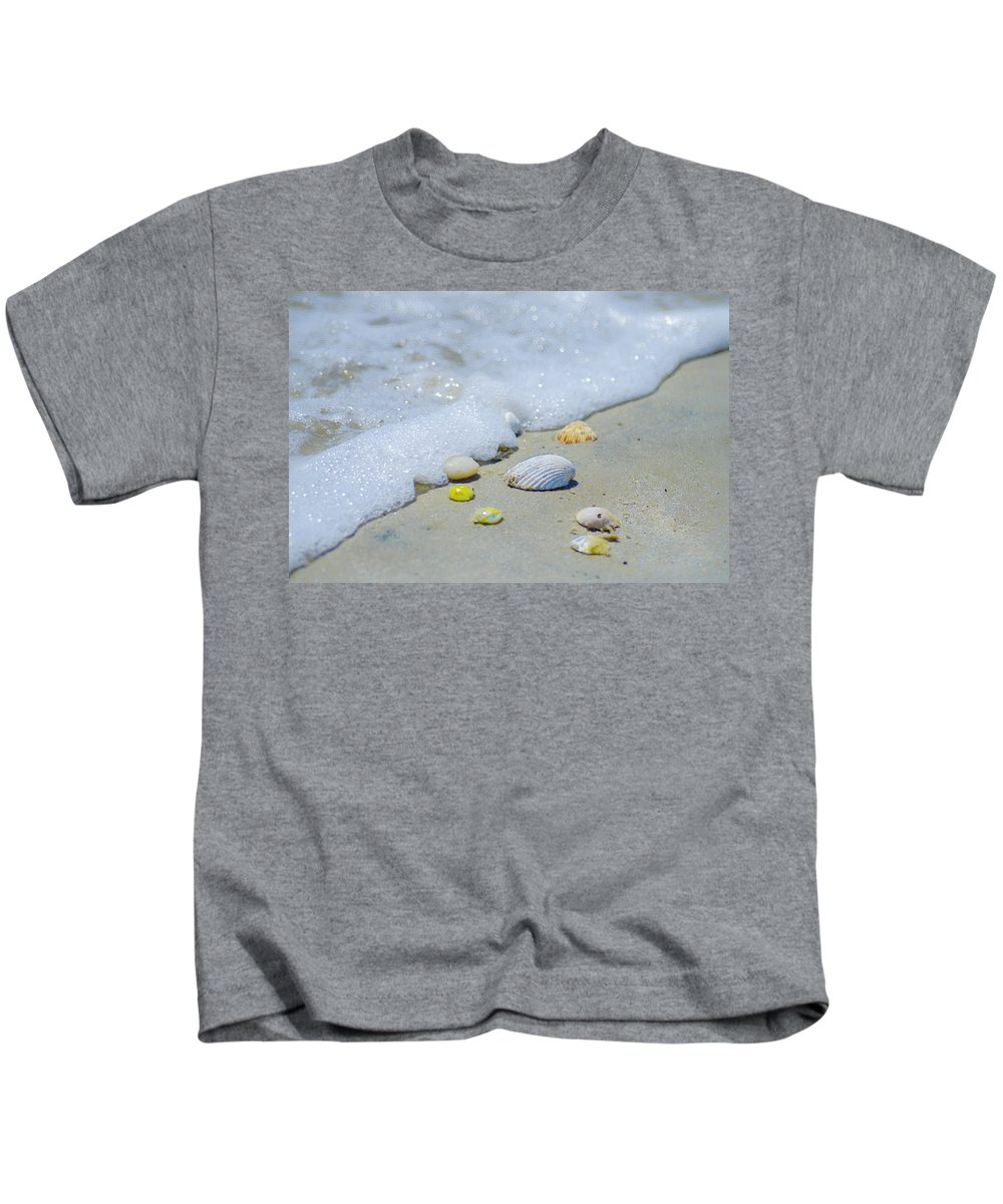 Beach Kids T-Shirt featuring the photograph Beach Treasures by Bill Cannon