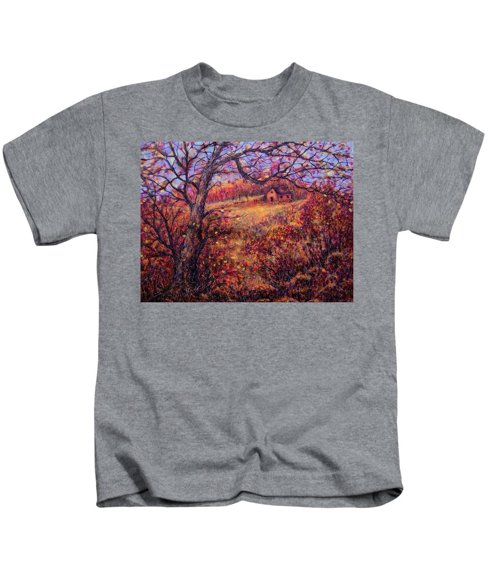 Autumn Kids T-Shirt featuring the painting Beautiful Autumn by Natalie Holland