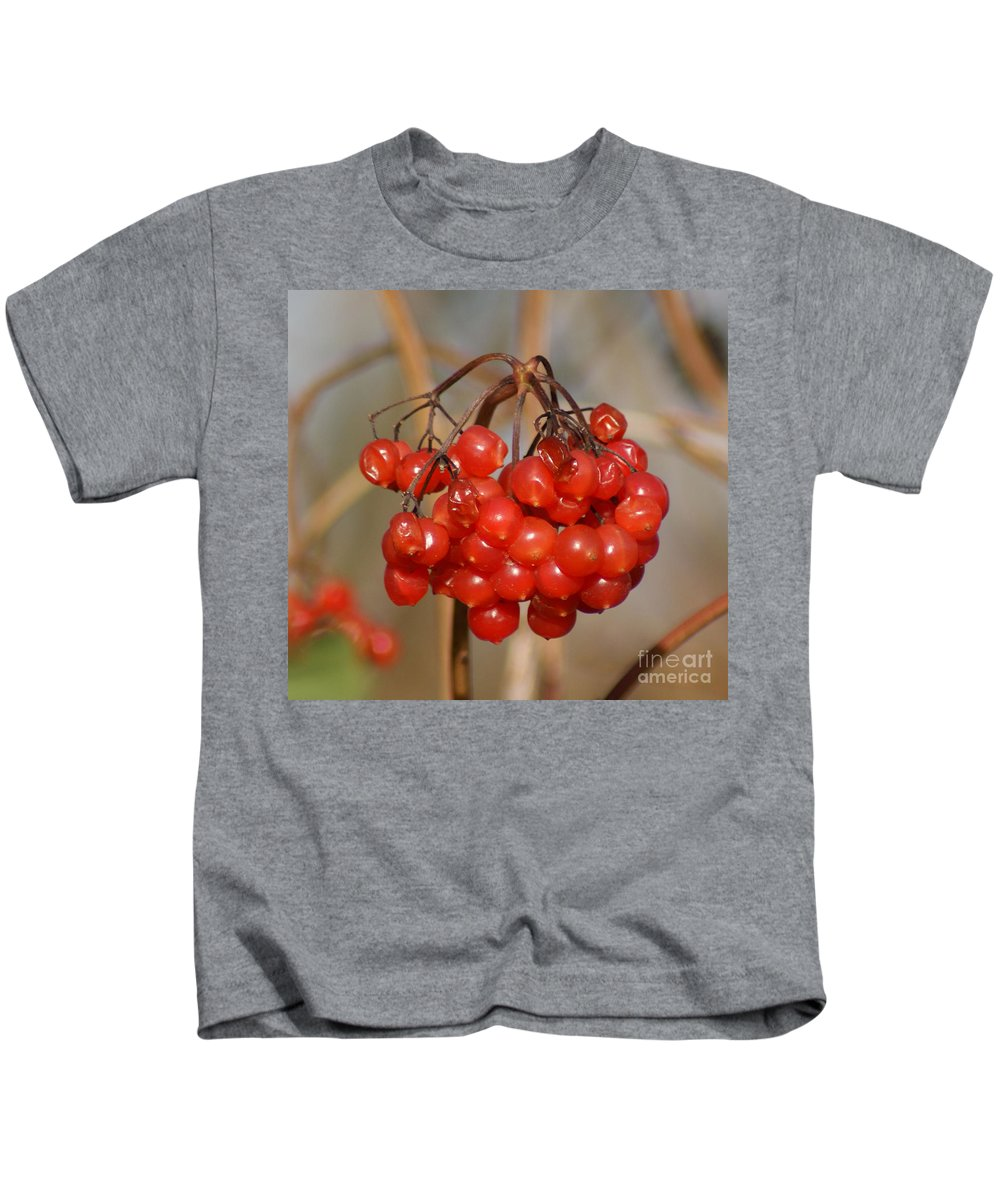 Autumn Kids T-Shirt featuring the photograph Berries by Carol Lynch