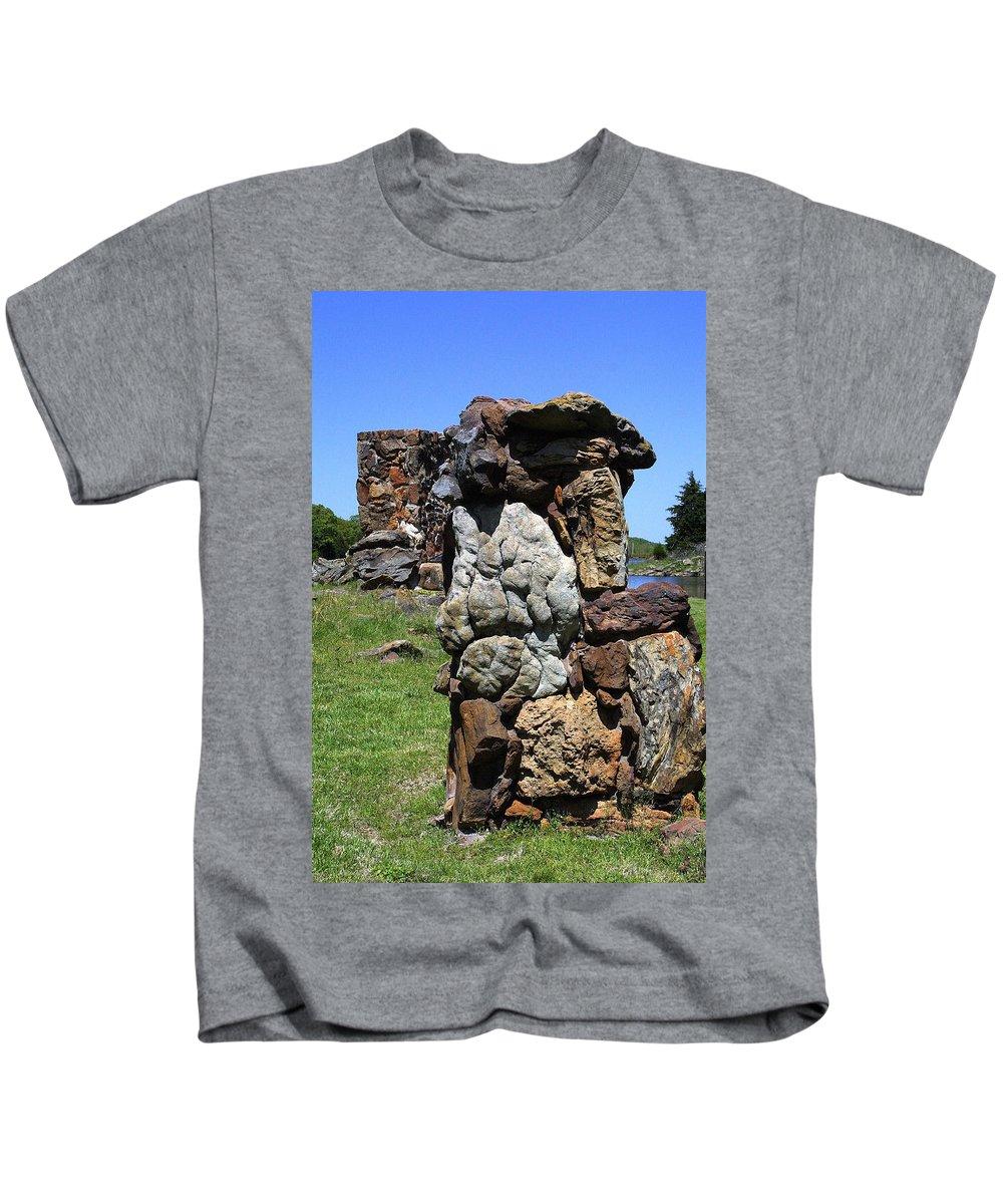 Rocks Kids T-Shirt featuring the photograph Big Rock by Daren Johnson