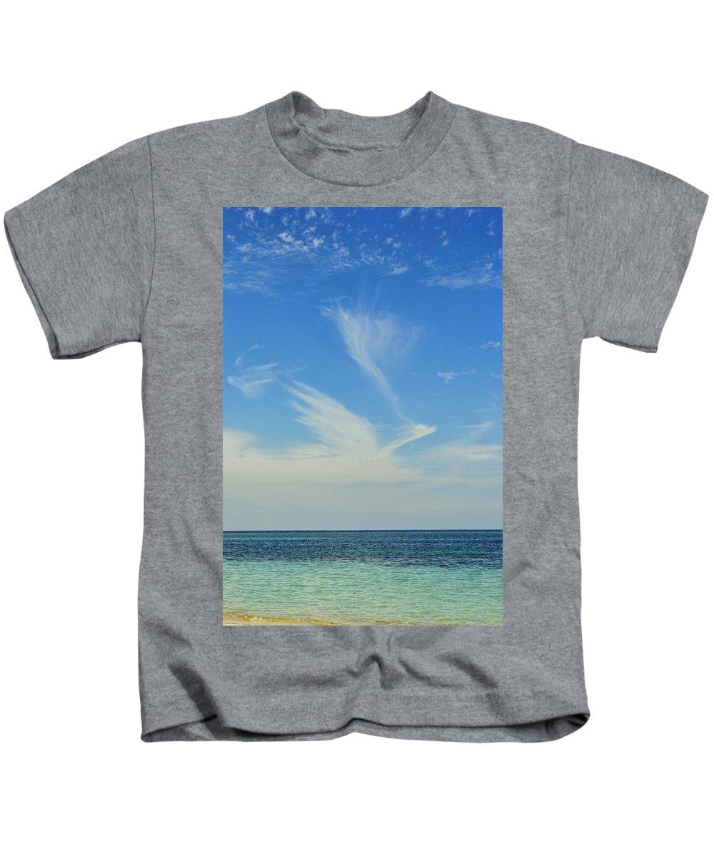 Bird Kids T-Shirt featuring the photograph Bird Cloud by David Hart