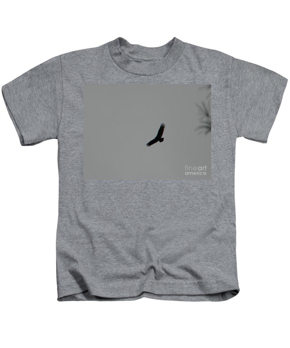 Bird Kids T-Shirt featuring the photograph Black Bird by Nathanael Smith