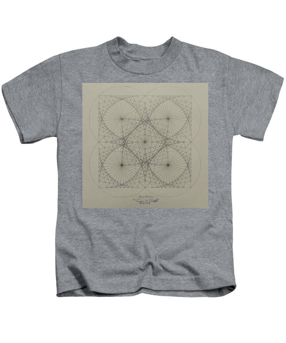 Fractals Kids T-Shirt featuring the drawing Blackhole by Jason Padgett