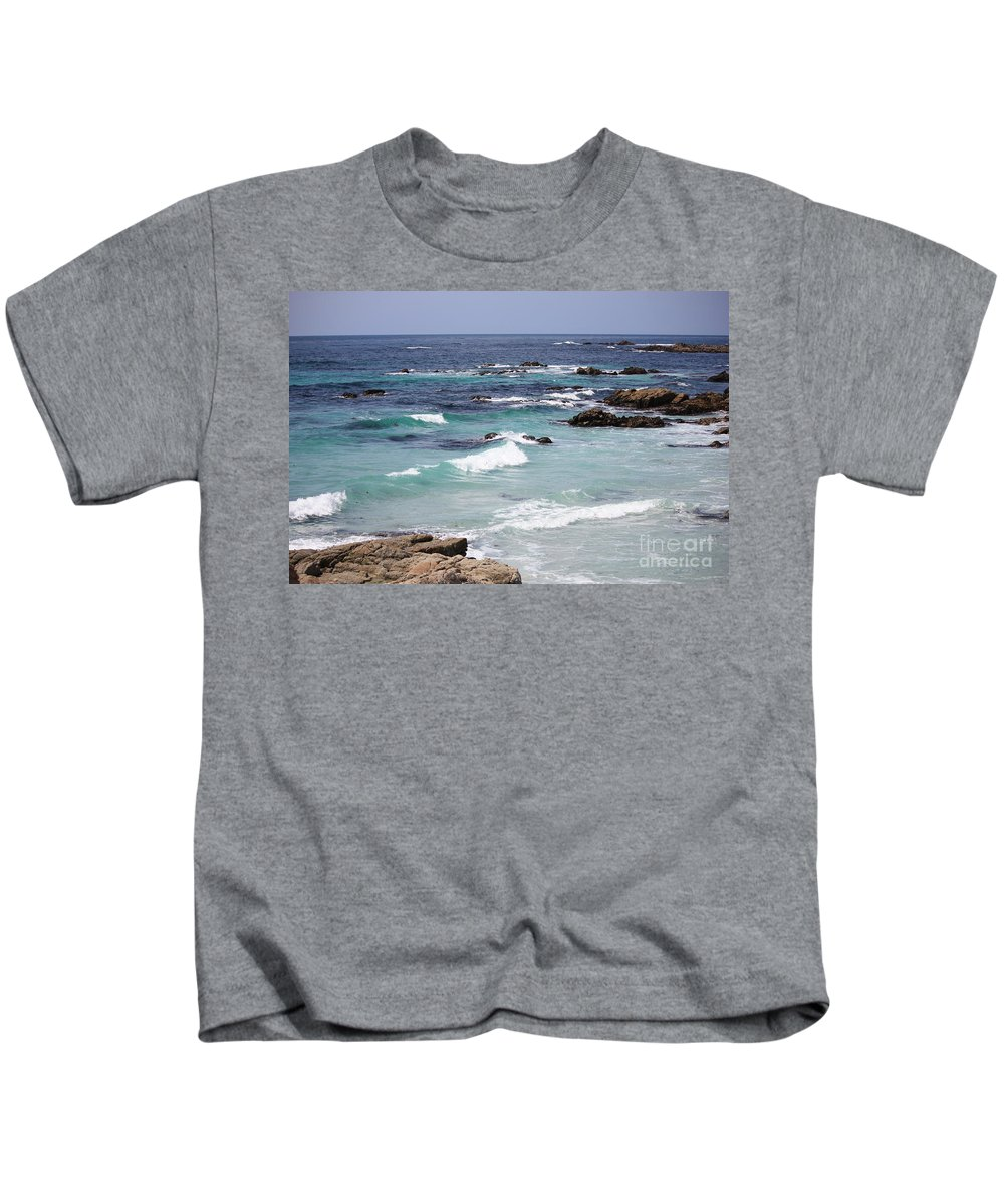 Blue Surf Kids T-Shirt featuring the photograph Blue Surf by Carol Groenen