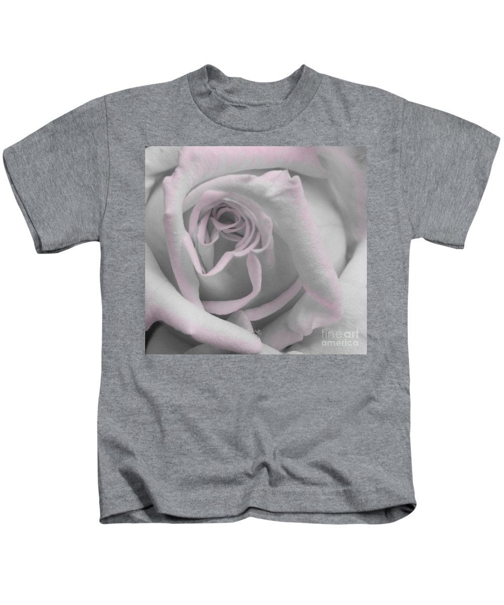 Rose Kids T-Shirt featuring the photograph Blush Rose by Jim And Emily Bush