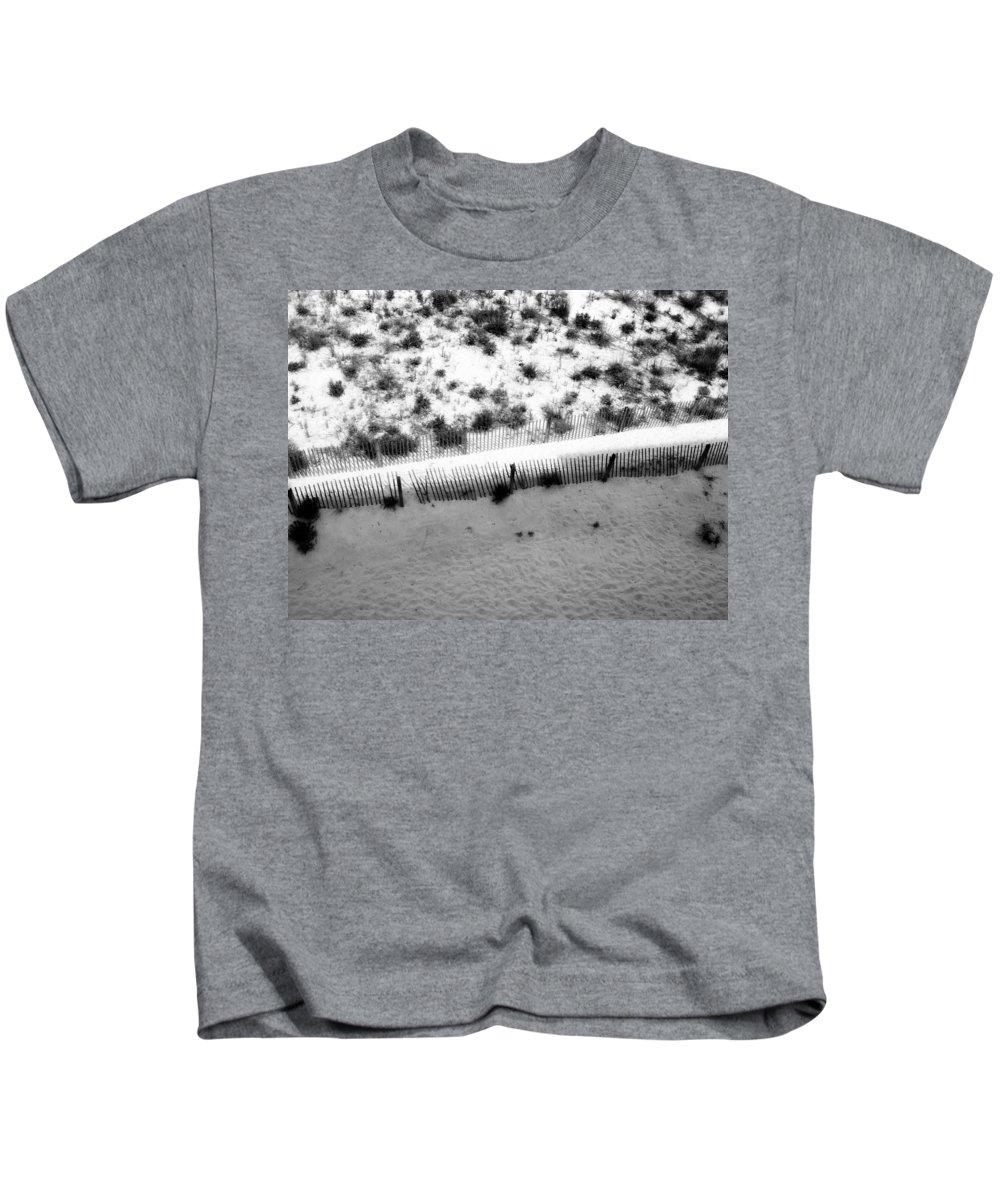 Sand Kids T-Shirt featuring the photograph Boundaries by Deborah Crew-Johnson