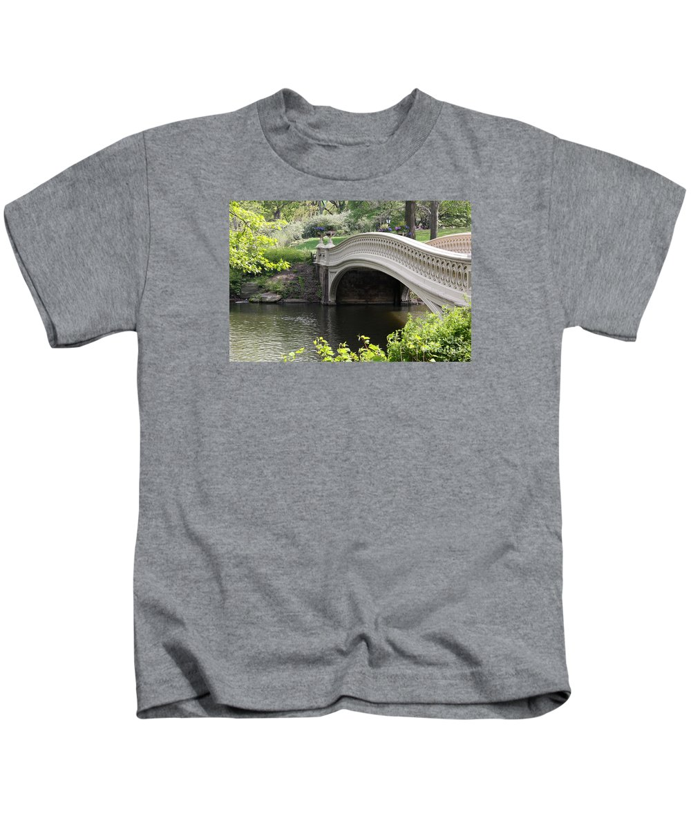 Bow Bridge Kids T-Shirt featuring the photograph Bow Bridge Iv by Christiane Schulze Art And Photography