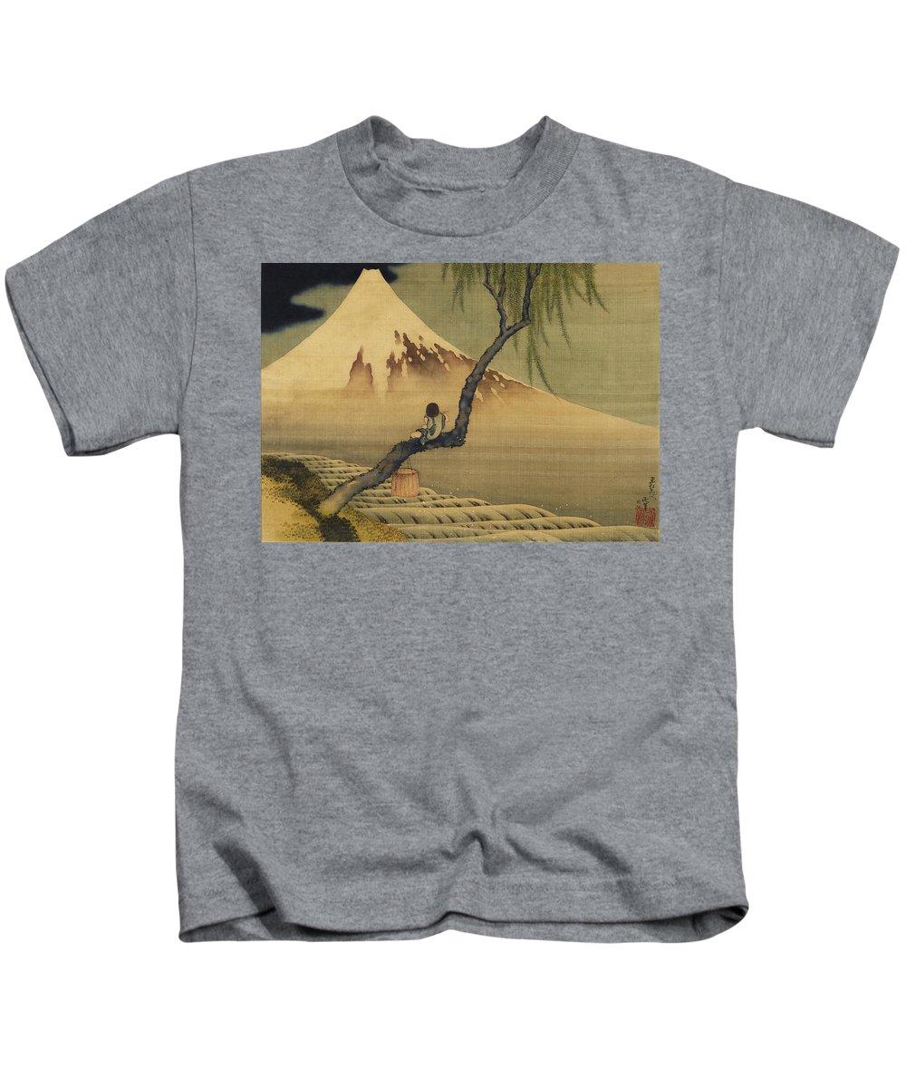 Thirty-six Views Of Mount Fuji Kids T-Shirts