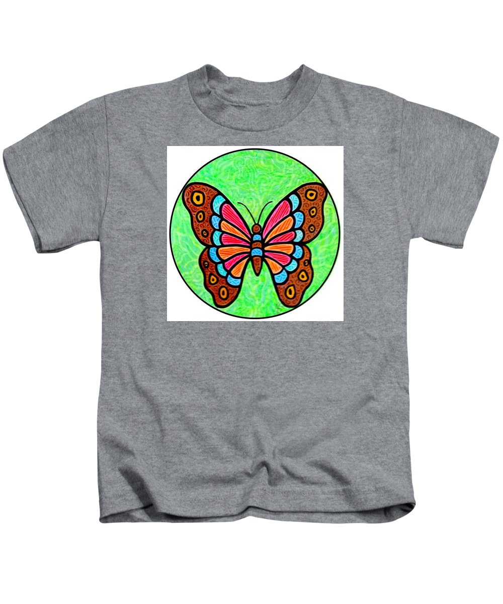Butterfly Kids T-Shirt featuring the painting Bright Butterfly by Jim Harris