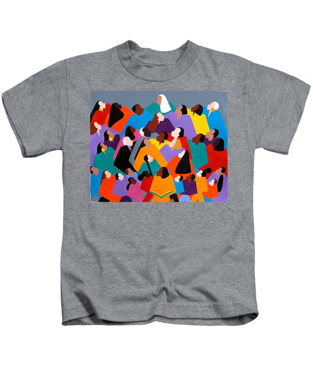 Figurative Kids T-Shirt featuring the painting Brilliance by Synthia SAINT JAMES