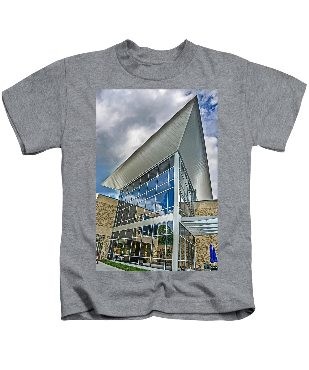Uwf Kids T-Shirt featuring the photograph Business Building by Jon Cody
