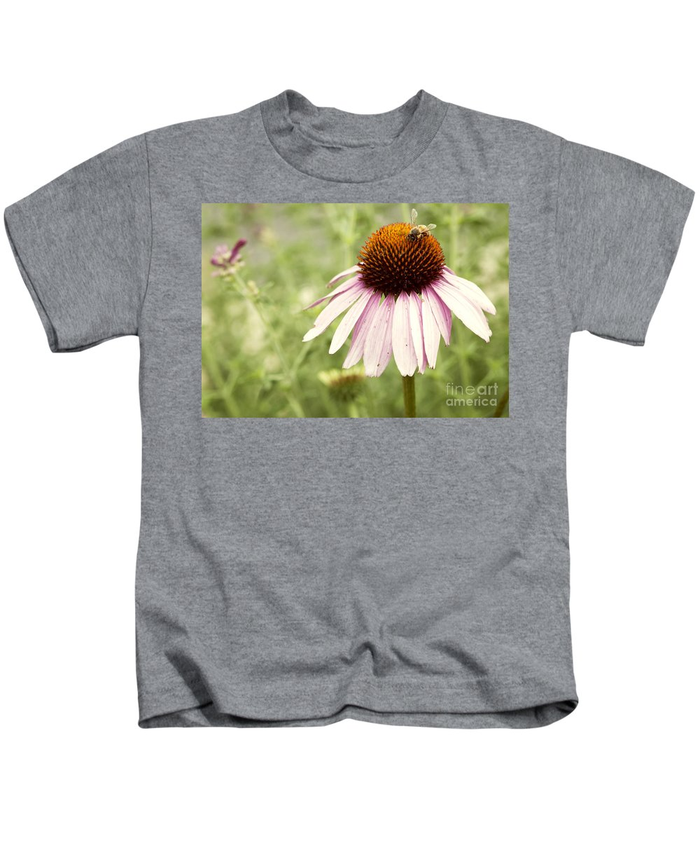 Anthophila Kids T-Shirt featuring the photograph Busy Little Bee by Juli Scalzi