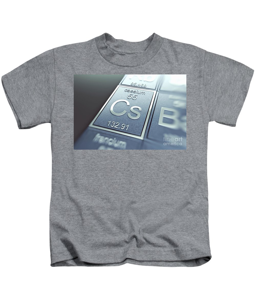 Atomic Number Kids T-Shirt featuring the photograph Caesium Chemical Element by Science Picture Co
