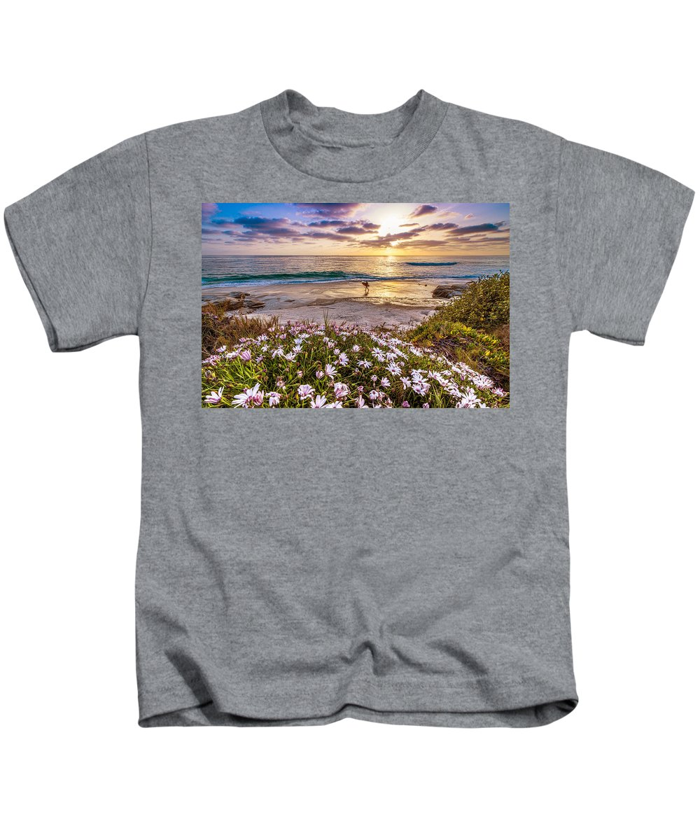 Windansea Kids T-Shirt featuring the photograph California Dreamin' by Justin Lowery