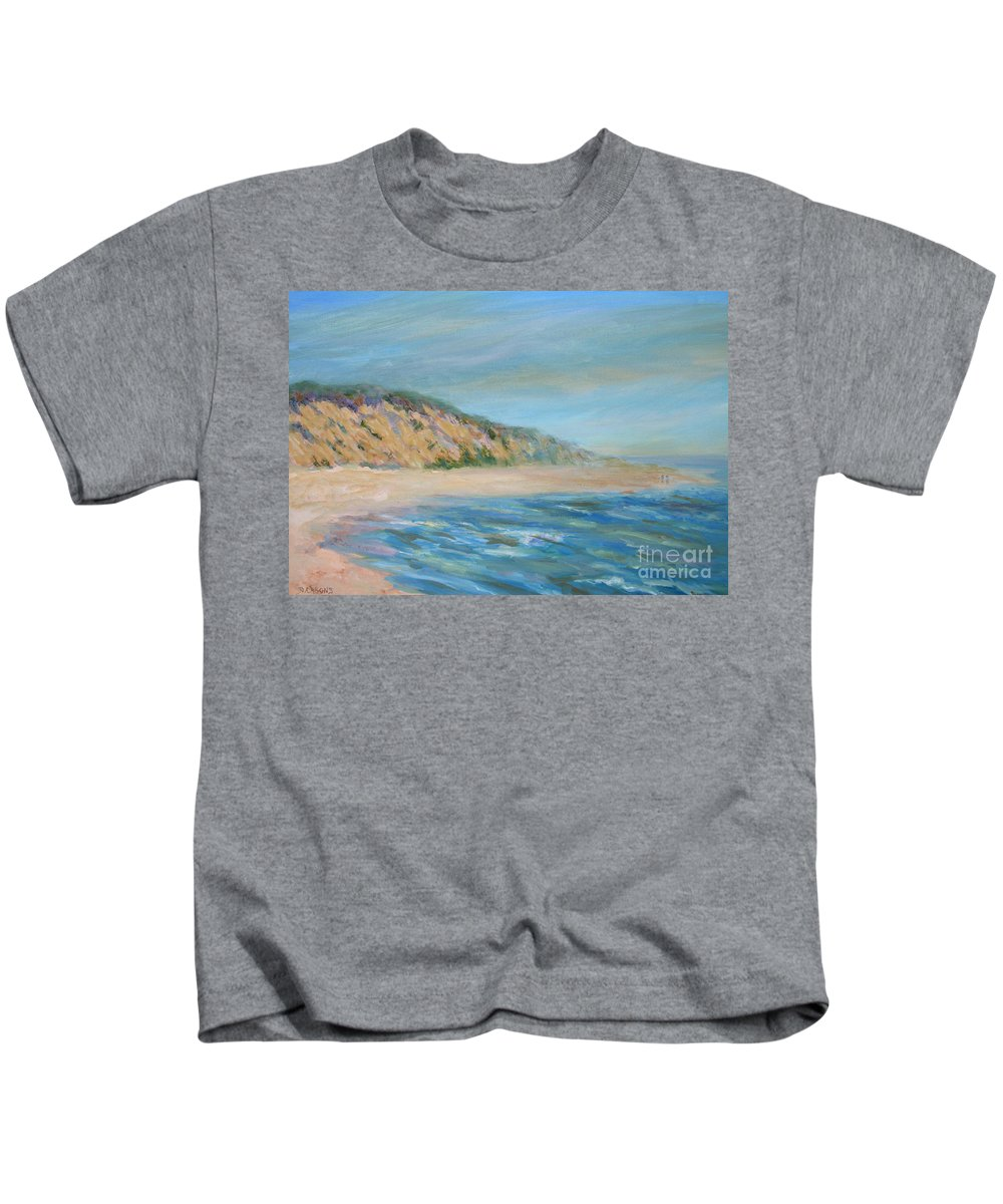 Cape Cod Kids T-Shirt featuring the painting Cape Cod National Seashore by Pamela Parsons