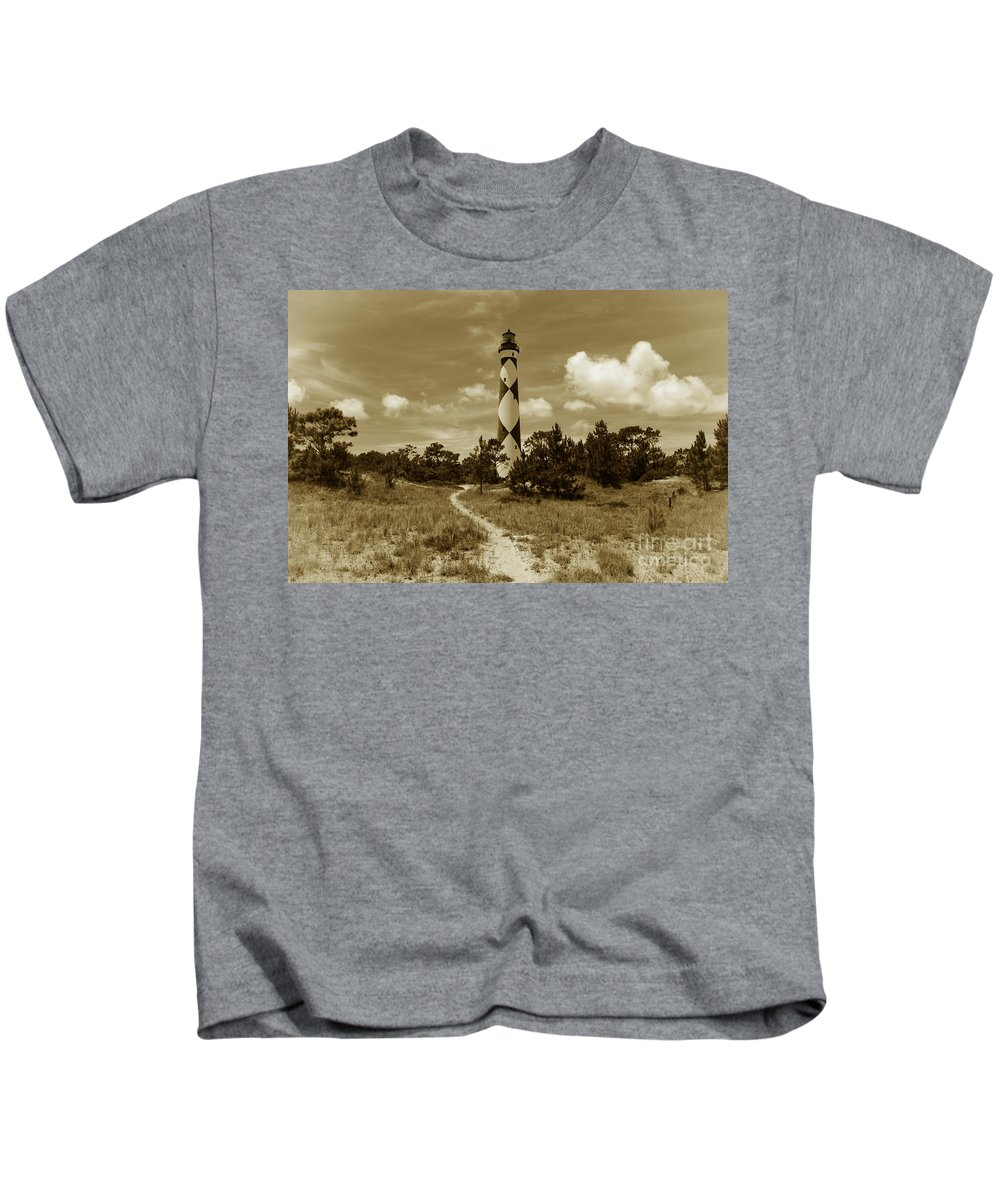 Obx Kids T-Shirt featuring the photograph Cape Lookout by Tony Cooper