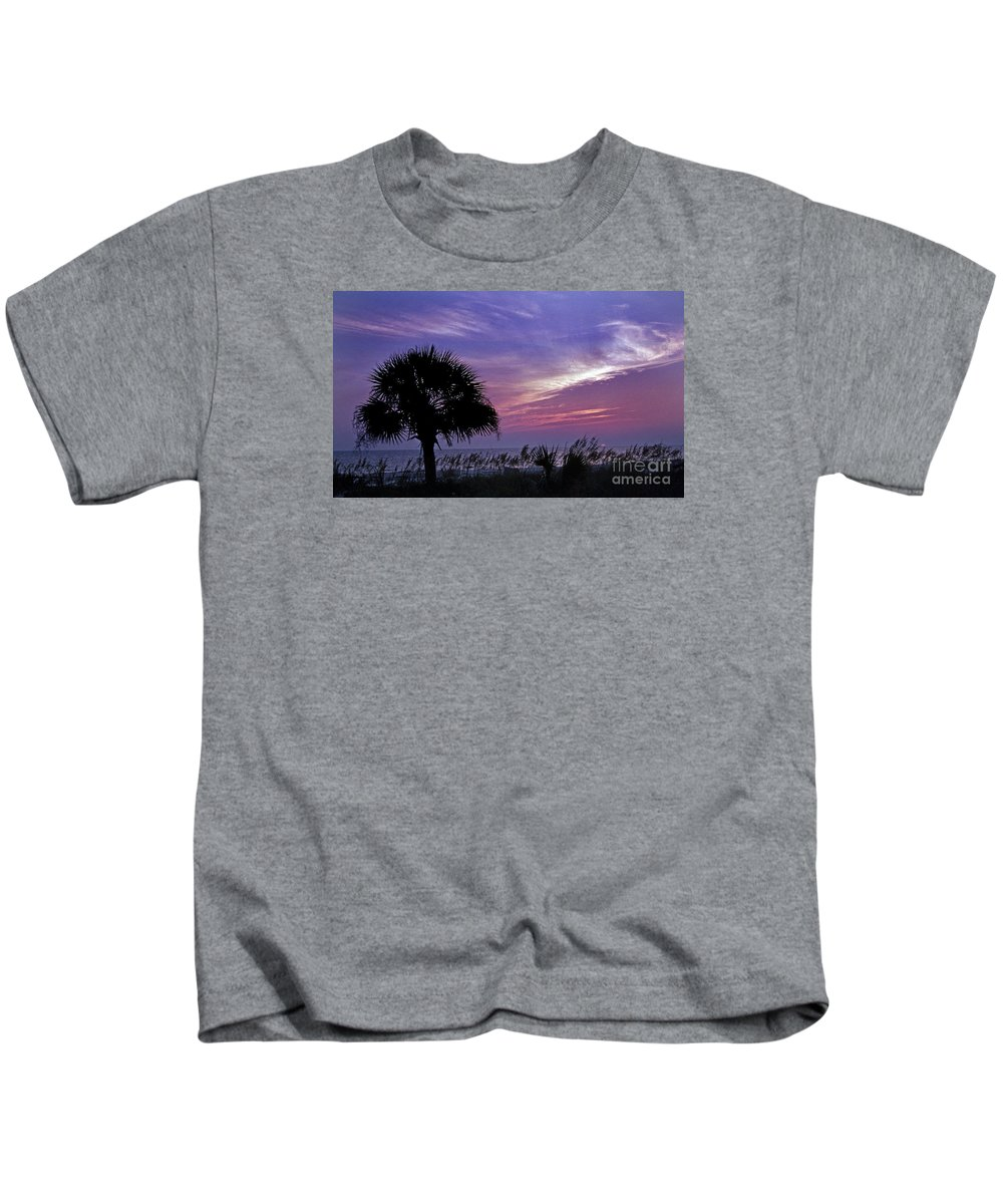 Scenic Tours Kids T-Shirt featuring the photograph Carolina Sunrise by Skip Willits
