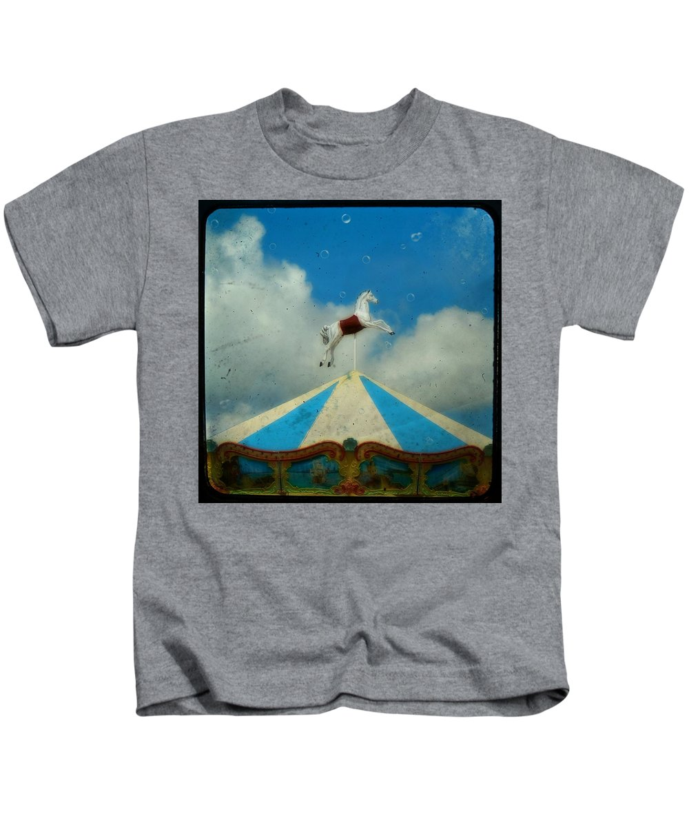 Carnival Kids T-Shirt featuring the photograph Carousel Day by Gothicrow Images