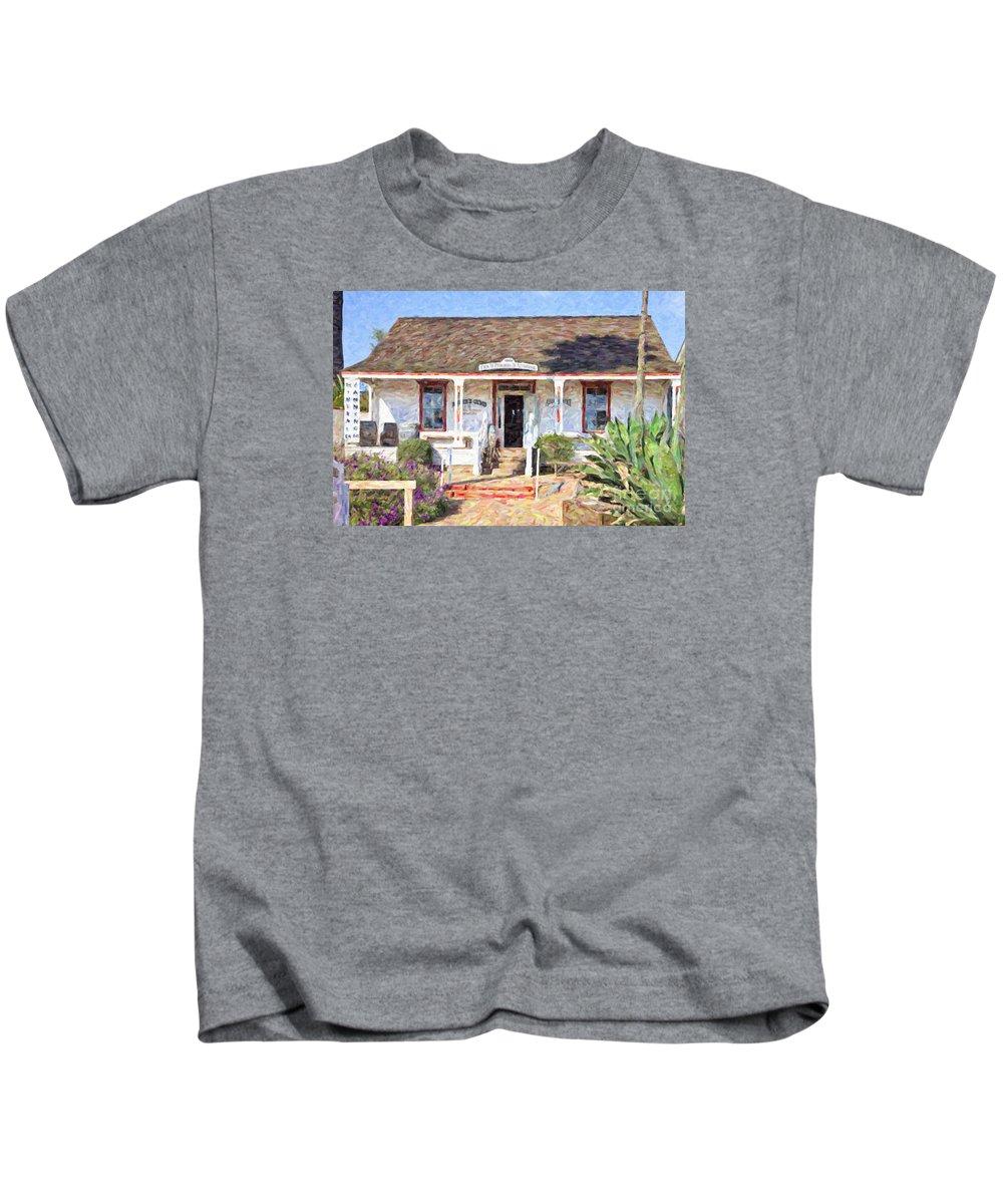 Casa Pedrorena De Altamirano Kids T-Shirt featuring the digital art Casa De Pedrorena De Altamirano by Liz Leyden