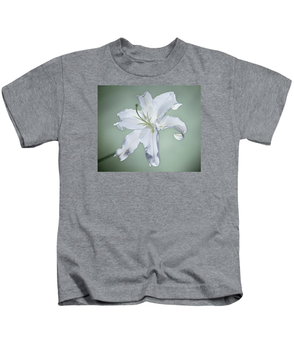 Casablanca Lily Kids T-Shirt featuring the photograph Casablanca by Kirk Ellison