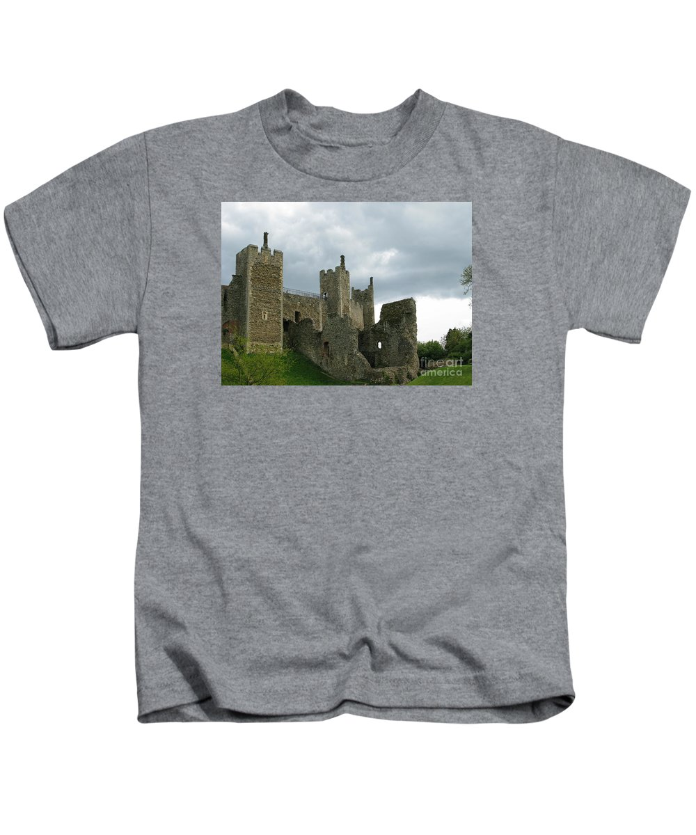 Castle Kids T-Shirt featuring the photograph Castle Curtain Wall by Ann Horn