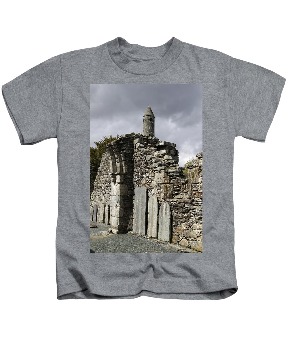 Cathedral Of St Peter And St Paul Ruin Kids T-Shirt featuring the photograph Cathedral Of St Peter And St Paul Ruin by Christiane Schulze Art And Photography